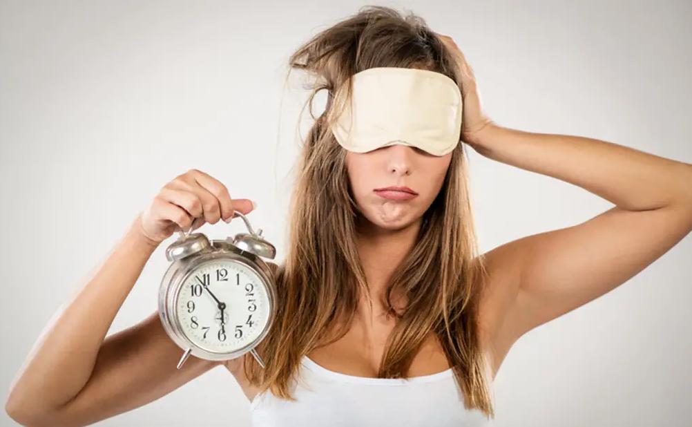 Femme ayant mal dormi